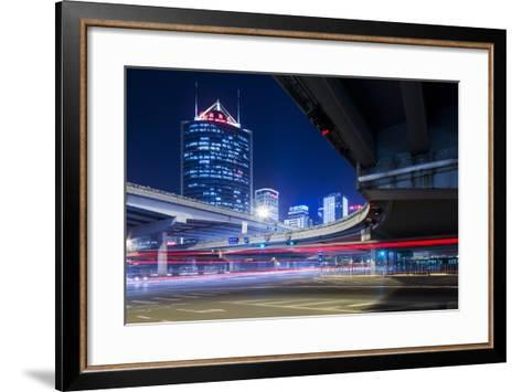 China, Beijing, Highway Overpass and Skyscrapers Along Third Ring Road-Paul Souders-Framed Art Print