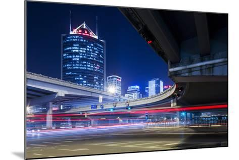 China, Beijing, Highway Overpass and Skyscrapers Along Third Ring Road-Paul Souders-Mounted Photographic Print