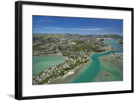 Pauatahanui Inlet, Porirua Harbour, Wellington Region, New Zealand-David Wall-Framed Art Print