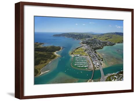 Mana Marina and Porirua Harbour, Wellington, North Island, New Zealand-David Wall-Framed Art Print