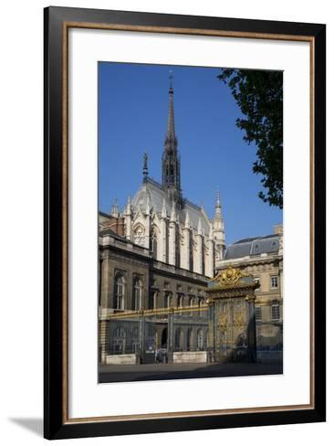Palais Du Justice with Sainte Chappelle Overhead, Paris, France-Brian Jannsen-Framed Art Print