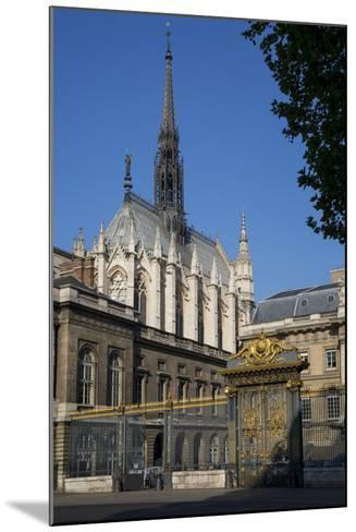 Palais Du Justice with Sainte Chappelle Overhead, Paris, France-Brian Jannsen-Mounted Photographic Print