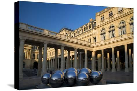 Early Morning in the Courtyard of Palais Royal, Paris, France-Brian Jannsen-Stretched Canvas Print
