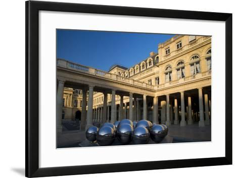 Early Morning in the Courtyard of Palais Royal, Paris, France-Brian Jannsen-Framed Art Print