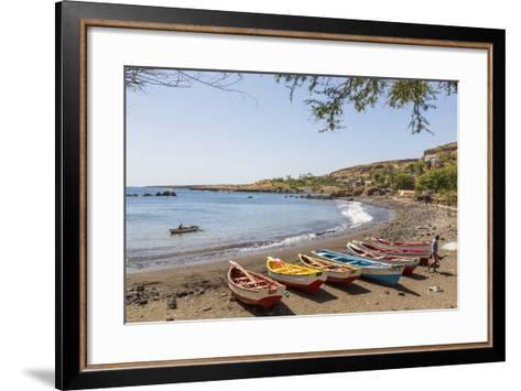 Fishing Boats on Beach, Cidade Velha, Santiago Island, Cape Verde-Peter Adams-Framed Art Print
