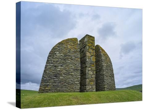 Land Raiders Monument Near Coll and Gress, Isle of Lewis, Scotland-Martin Zwick-Stretched Canvas Print