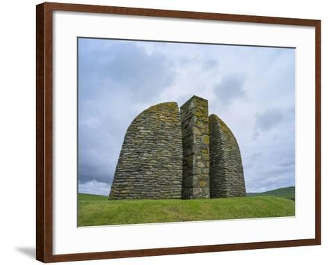 Land Raiders Monument Near Coll and Gress, Isle of Lewis, Scotland-Martin Zwick-Framed Art Print