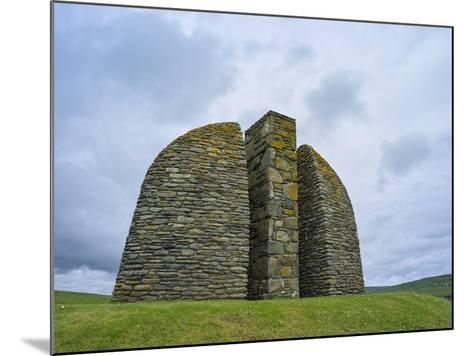 Land Raiders Monument Near Coll and Gress, Isle of Lewis, Scotland-Martin Zwick-Mounted Photographic Print