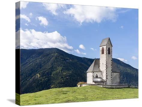 The Church Sankt Jakob, Val de Funes, Italy, South Tyrol, Alto Adige-Martin Zwick-Stretched Canvas Print