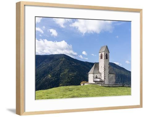 The Church Sankt Jakob, Val de Funes, Italy, South Tyrol, Alto Adige-Martin Zwick-Framed Art Print