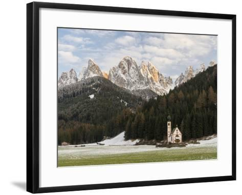 The Church St. John in Ranui, Geisler, Alto Adige, South Tyrol, Italy-Martin Zwick-Framed Art Print