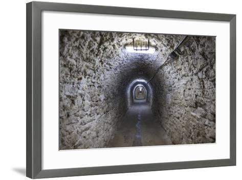 Romania, Transylvania, Turda, Turda Salt Mine, Interior Passageway-Walter Bibikow-Framed Art Print