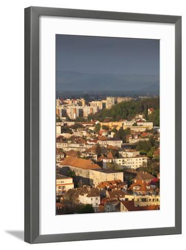 Romania, Transylvania, Brasov, New City Buildings, Sunset-Walter Bibikow-Framed Art Print