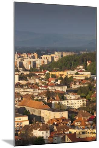 Romania, Transylvania, Brasov, New City Buildings, Sunset-Walter Bibikow-Mounted Photographic Print