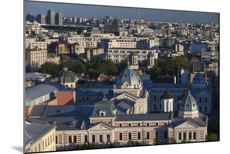 Romania, Bucharest, Coltea Hospital Along IC Bratianu Blvd at Sunset-Walter Bibikow-Mounted Photographic Print
