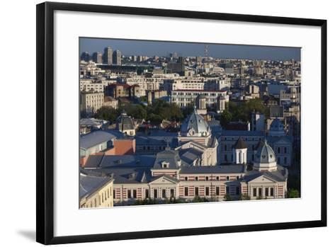 Romania, Bucharest, Coltea Hospital Along IC Bratianu Blvd at Sunset-Walter Bibikow-Framed Art Print