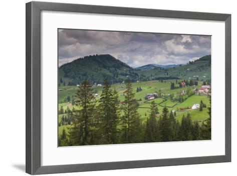 Romania, Transylvania, Tihuta Pass, Mountain Buildings of the Pass-Walter Bibikow-Framed Art Print