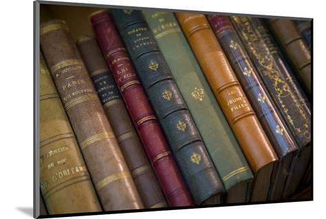Old French Books at a Bookstore in Galerie Vivienne, Paris, France-Brian Jannsen-Mounted Photographic Print