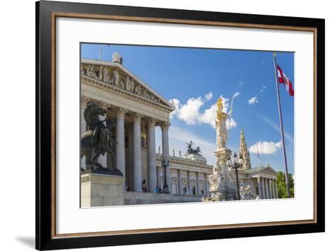 Parliament Building, Vienna, Austria-Peter Adams-Framed Art Print