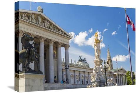 Parliament Building, Vienna, Austria-Peter Adams-Stretched Canvas Print