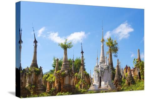 Indein Stupa Complex, Inle Lake, Myanmar-Keren Su-Stretched Canvas Print