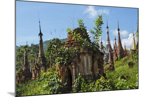 Indein Stupa Complex, Inle Lake, Myanmar-Keren Su-Mounted Photographic Print