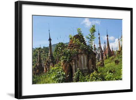 Indein Stupa Complex, Inle Lake, Myanmar-Keren Su-Framed Art Print