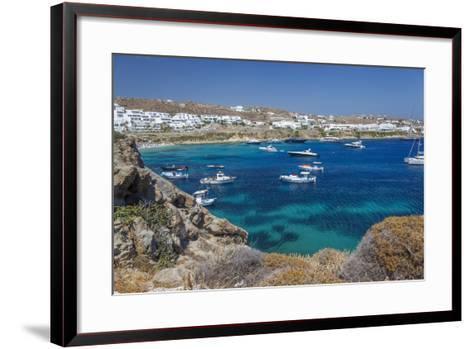 Psarrou Beach in Mykonos Island, Greece-Ali Kabas-Framed Art Print