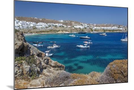 Psarrou Beach in Mykonos Island, Greece-Ali Kabas-Mounted Photographic Print