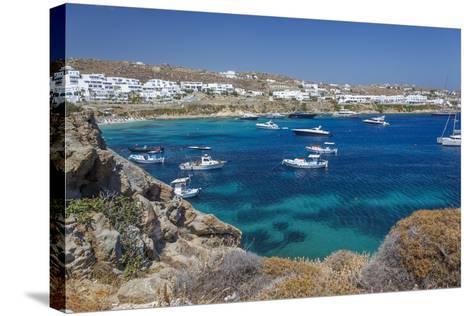Psarrou Beach in Mykonos Island, Greece-Ali Kabas-Stretched Canvas Print