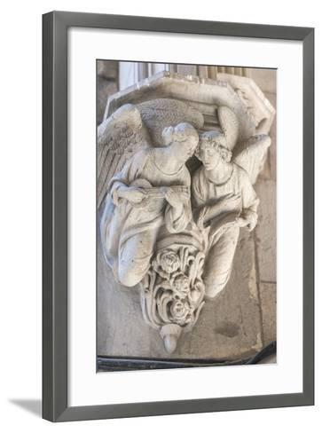 Spain, Barcelona, Stone Carving, Angels-Jim Engelbrecht-Framed Art Print