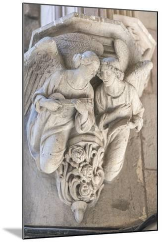 Spain, Barcelona, Stone Carving, Angels-Jim Engelbrecht-Mounted Photographic Print
