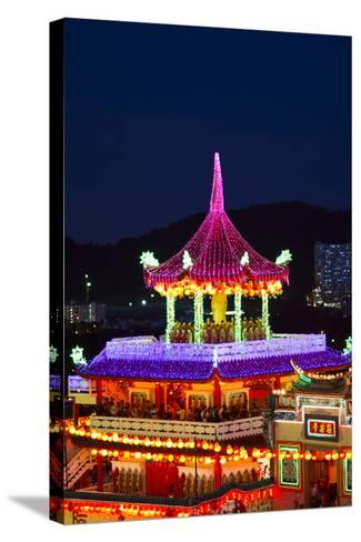 The Fantastic Lighting of Kek Lok Si Temple in Penang, Malaysia-Micah Wright-Stretched Canvas Print
