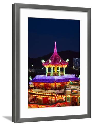 The Fantastic Lighting of Kek Lok Si Temple in Penang, Malaysia-Micah Wright-Framed Art Print
