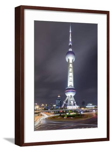 China, Pudong District, Shanghai, Oriental Pearl Radio and Tv Tower-Paul Souders-Framed Art Print
