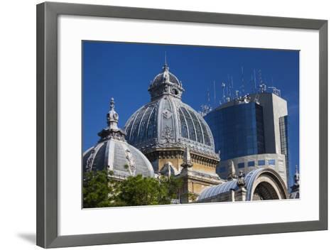 Romania, Bucharest, Lipscani Old Town, Cec Bank Palace Building-Walter Bibikow-Framed Art Print
