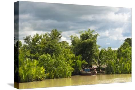 Scenery Along the Kaladan River, Rakhine State, Myanmar-Keren Su-Stretched Canvas Print