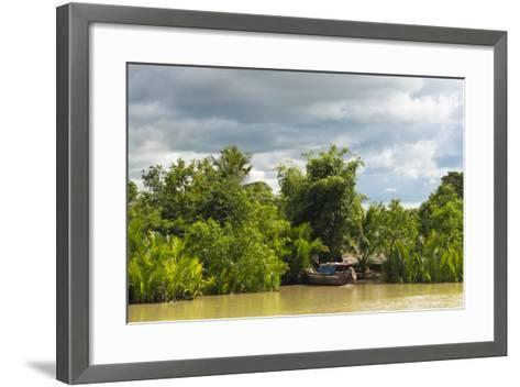 Scenery Along the Kaladan River, Rakhine State, Myanmar-Keren Su-Framed Art Print