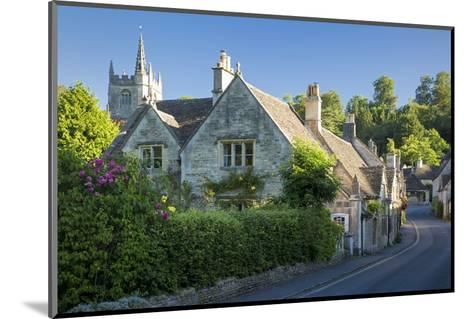 Early Morning in Castle Combe, the Cotswolds, Wiltshire, England-Brian Jannsen-Mounted Photographic Print