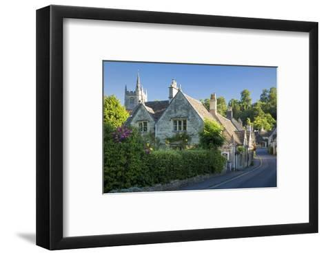 Early Morning in Castle Combe, the Cotswolds, Wiltshire, England-Brian Jannsen-Framed Art Print