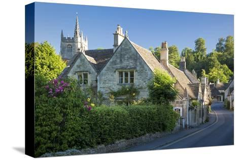 Early Morning in Castle Combe, the Cotswolds, Wiltshire, England-Brian Jannsen-Stretched Canvas Print