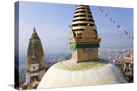 Swayambunath Stupa or Monkey Temple, Kathmandu, Nepal-Peter Adams-Stretched Canvas Print
