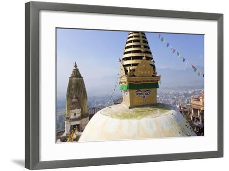 Swayambunath Stupa or Monkey Temple, Kathmandu, Nepal-Peter Adams-Framed Art Print