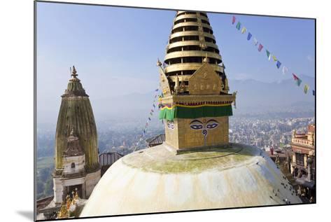 Swayambunath Stupa or Monkey Temple, Kathmandu, Nepal-Peter Adams-Mounted Photographic Print