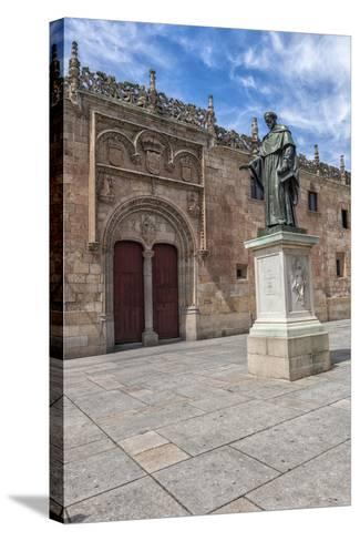 Spain, Salamanca, Frei Luis de Leon in Courtyard of the Clergy-Lisa S^ Engelbrecht-Stretched Canvas Print