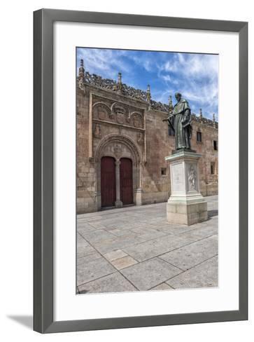 Spain, Salamanca, Frei Luis de Leon in Courtyard of the Clergy-Lisa S^ Engelbrecht-Framed Art Print