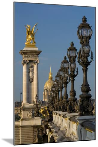 Ornate Pont Alexandre III with Hotel les Invalides, Paris, France-Brian Jannsen-Mounted Photographic Print