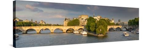 Evening View of River Seine, Paris, France-Brian Jannsen-Stretched Canvas Print