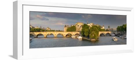Evening View of River Seine, Paris, France-Brian Jannsen-Framed Art Print
