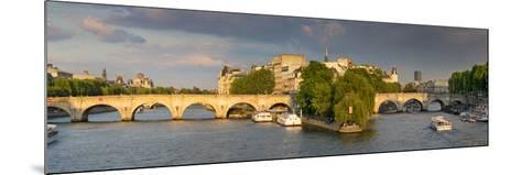 Evening View of River Seine, Paris, France-Brian Jannsen-Mounted Photographic Print